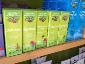 Extraits liquides de la souris verte